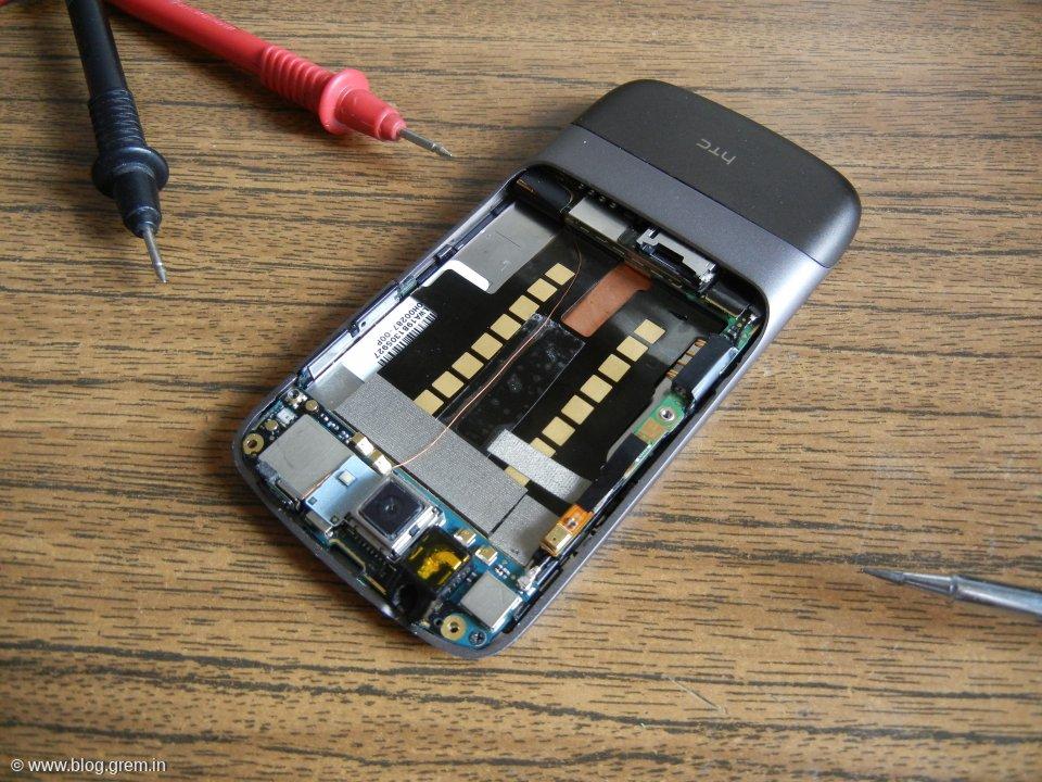 Nexus One, кнопка, и паяльник